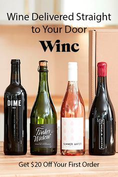 Wine Delivered Straight to Your Door by Winc. Get $20 Off Your First Order