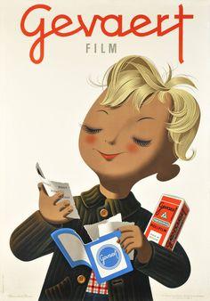 Gevaert Film  Donald BRUN  Prix de l'affiche suisse 1946