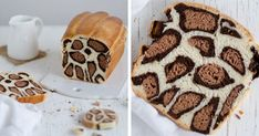 Leopard Milk Bread Recipe By French Baker (Bored Panda) Milk Bread Recipe, Bread Recipes, Baking Recipes, Cake Recipes, Food Cakes, Savoury Baking, Fast Easy Meals, Bread Cake, Fancy Cakes