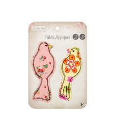 Sew Little Time Love Sew-On Patch Applique Craft Embellishment Fabric Editions