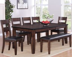 """Maldives  5 Piece Dinette  Table and 4 Chairs  $699.00     Table $459.00  42"""" x 60"""" ~78"""" x 30"""" H  (with 18"""" Leaf)     Chair $99.00  19"""" x 19"""" x 40.3 H         Bench $139.00  51"""" x 15"""" x 20.5"""" H      C/M 2360"""