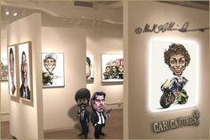 """Mick Hollinworth Caricatures, Serving Yorkshire, East Midlands (and home counties)...    As a freelance Caricaturist and Illustrator, Mick has been providing caricatures and artwork for retail, advertising, sports clubs, business' and the general public, as well as providing live """"on-the-spot"""" caricatures at corporate functions for over 20 years.     Weddings, Parties, Hotels and Trade fairs are but a few of his artistic venues."""