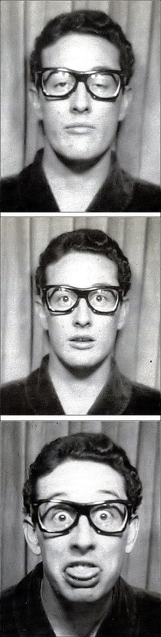 Awesome Photos Of Buddy Holly And Waylon Jennings In A Photo Booth