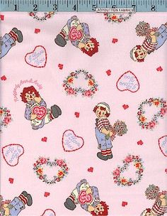 Raggedy Ann & Raggedy Andy In Love! Licensed to Spectrix, Baby & Juvenile, Ladybutton Fabrics