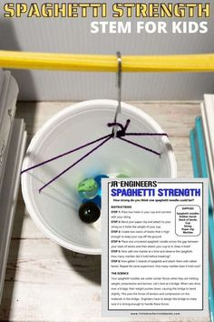 A fun STEM activity for a variety of ages - teach your kids to build and test a spaghetti bridge for strength. What makes a pasta bridge strong? Your spaghetti noodles are under certain forces when they are holding weight; compression and tension. What spaghetti bridge design will hold the most weight? Get our free printable STEM challenge project below and test out your ideas today! Free Activities For Kids, Toddler Learning Activities, Science Activities, Spaghetti Bridge, Projects For Kids, Kids Crafts, Egg Drop Project, Paper Bridge, Spaghetti Noodles