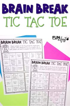 This FREE Brain Break Tic Tac Toe includes 3 sets of activities for children that may be stuck at home.