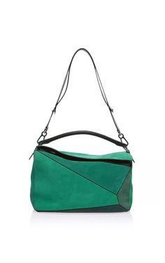 Small Puzzle Bag In Green by Loewe for Preorder on Moda Operandi