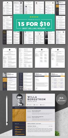 Professional Word Resume Cv Template designed by Anda Lia. the global community for designers and creative professionals. Microsoft Word Resume Template, One Page Resume Template, Sample Resume Templates, Resume Design Template, Cv Template, Cover Letter For Resume, Cover Letter Template, Job Resume, Creative Resume