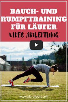 BAUCHTRAINING: Trainiere deine Bauchmuskeln und deine gesamte Rumpfmuskulatur mit diesen einfachen Übungen. Diese Bauchübungen sind super für Läufer und für Sportler. Mehr auf www.klarafuchs.com #bauchtraining #rumpftraining #lauftipps