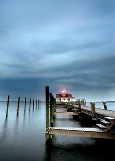 For my light house collection --  Lighthouse Photograph calm serene blue pier water by SherriConley, $15.00