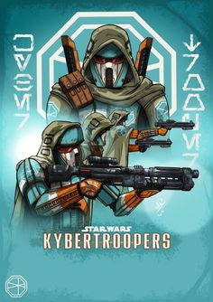 KyberTroopers by DazTibbles Star Wars Rpg, Star Wars Ships, Star Wars Clone Wars, Star Wars Characters Pictures, Images Star Wars, Star Wars Concept Art, Star Wars Fan Art, Star War 3, Death Star