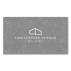 Modern Business Card Template for Real Estate, Realtors, Property Management and more - easy to personalize