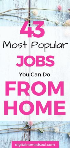 Are you looking for online jobs because you want to work from home? Or do you want to become a digital nomad and travel the world while making money online? Here is an extensive list of the most popular remote jobs out there. Get inspired! #sahm #digitalnomadlife #locationindependent #workfromhome #makemoneyonline