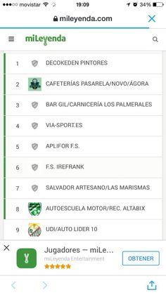 Clasificación primera división fútbol sala en elche