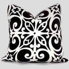 black & white pillow