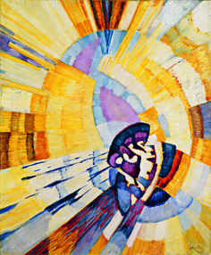 František Kupka was a Czech painter and graphic artist. He was a pioneer and co-founder of the early phases of the abstract art movement and Orphic cubism.