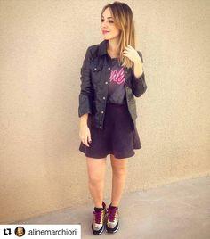 """2,633 curtidas, 54 comentários - Vizzano Oficial (@vizzano_oficial) no Instagram: """"Cool! A editora de moda, Aline Marchiori, arrasou no outfit com nosso Sport Chic de glitter e cores…"""""""