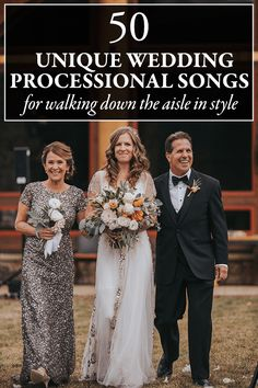 """If you're looking for something with a little more flair than the old """"Here Comes the Bride"""" tune, this list of wedding processional songs is for you!"""