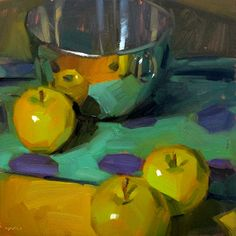 Carol Marine's Painting a Day... I feel an apple pie coming on...