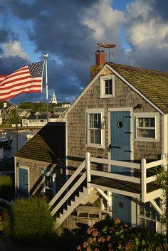 Old North Wharf at Sunrise -Cape Cod, Massachusetts Nantucket Style, Nantucket Island, Nantucket Beach, Coastal Style, Seaside, Beautiful World, Beautiful Homes, Beautiful Places, Coastal Cottage