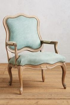 Anthropologie Leather Tirelle Occasional Chair