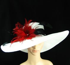 WHITE Kentucky Derby Hat Derby Hat Church Hat by theoriginaltree