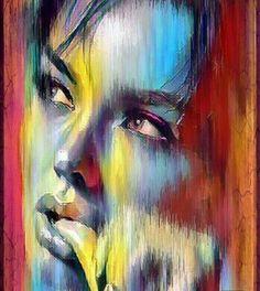 Art by Caterina Pelle L'art Du Portrait, Abstract Portrait, Art Amour, Art Visage, Abstract Faces, Arte Pop, Fine Art, Art Techniques, Figurative Art