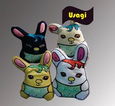 Los conejitos Usagis son ideales para llevarlos de las orejas!!