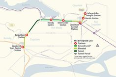 SkyTrain Evergreen Line moving full forward for 2016 arrival College Station, Central Station, How To Level Ground, Evergreen, Line, School, Maps, Fishing Line, Map