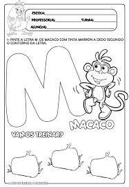 Resultado de imagem para atividades com a letra M para educação infantil
