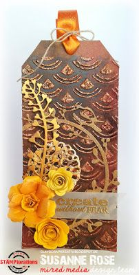 STAMPlorations™ Blog: {Stencil Sunday #14} + October Mixed Media Challenge
