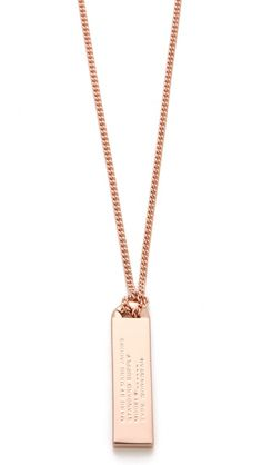 { Marc by Marc Jacobs Trompe l'Oeil Toggles & Turnlocks ID Tag Necklace }