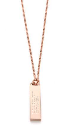 Marc Jacobs Trompe l'Oeil Toggles & Turnlocks ID Tag Necklace
