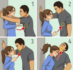 7 Self-Defense Techniques for Women Recommended by a Professional - Survival Skills - Global Websites Techniques D'autodéfense, Martial Arts Techniques, Self Defense Techniques, Survival Life Hacks, Survival Tips, Survival Skills, Survival Quotes, Survival Food, Camping Survival