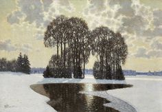 Winter, 1910, Vilhelms Purvītis, Latvian National Museum of Art,