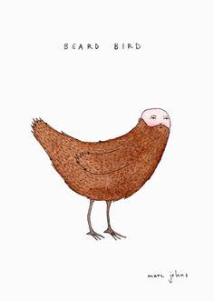 beard bird by marc johns