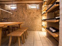 Sandsteinplatten im Weinkeller statt auf der Terrasse - geht genauso gut! - jonastone.de