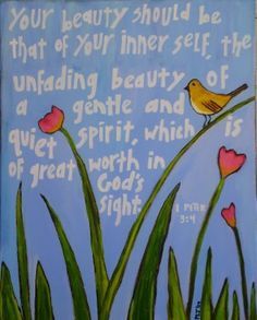 Your beauty should be that of your inner self...1 Peter 3:4  #scripture