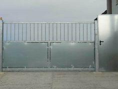 portón en acero galvanizado de una hoja con mecanismo http://www.tallereslobon.com/