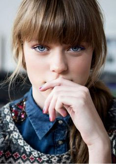 Femke Oosterkamp - love the bangs!