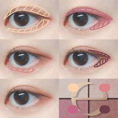Korean Natural Makeup, Korean Eye Makeup, Korea Makeup, Eye Makeup Steps, Eye Makeup Art, Eyeshadow Makeup, Kawaii Makeup, Cute Makeup, Maquillage On Fleek