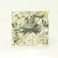 0.42 ct Yellow (Y2) I1 Clarity 4.14x3.94x2.76 mm Princess Cut Real Loose Diamond