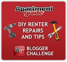 Apartment Guides DIY Renter Repairs & Tips Bloggers Challenge~