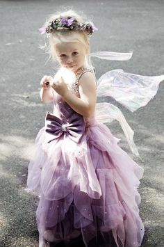 cute fairy flowergirl. Like that the wings aren't traditional