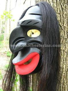 false face masks   False Face Masks - New York Native American Indians