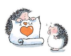 Valentines Day Hedgehog Love Wood Mounted Rubber Stamp PENNY BLACK 2858K New #PennyBlack