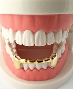 Find Out Why Everyone Buys Our Grillz! Just Look How Many We Sold. Our Grillz Are Genuine and Brilliant Quality. Contains Lower Fangs Grillz Only. Gold Grill, Girls With Grills, Mouth Grillz, Girl Grillz, Grillz For Girls, Diamond Teeth, Diamond Grillz, Tooth Gem, Necklaces