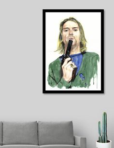 Original signed paintings: Stormtrooper Star Wars / Kurt Cobain Nirvana / Rammstein TIll Lindemann