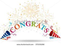 Congratulations celebration with firework