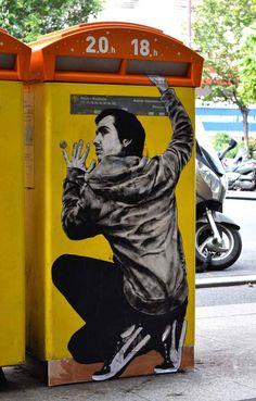 Dessin de rue – Nouvelles créations Street Art de Levalet